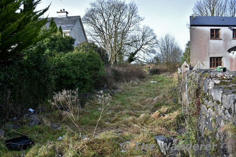 Looking from Claremorris Southern Station Level Crossing towards Claremorris MGWR station. Fri 09.02.18