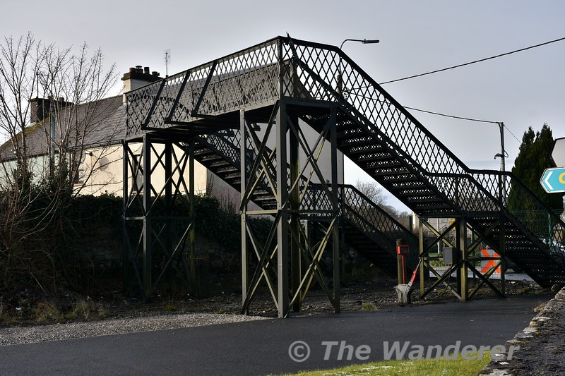 Footbridge at Claremorris Southern Station. Fri 09.02.18