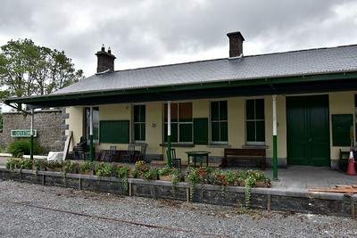"""The closed Ballyglunin Station between Tuam and Athenry. The station is famous for being the location of Castletown Station in the 1952 film """"The Quiet Man"""" starring John Wayne and Maureen O'Hara. The station is currently being refurbished by the Ballyglunin Community Development Charity. Mon 06.08.18"""