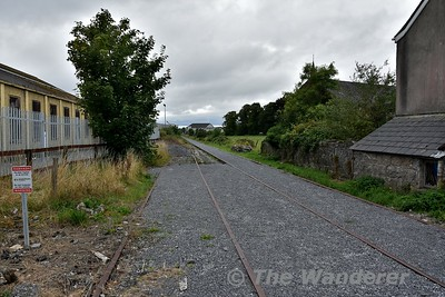 The disused station at Tuam. Looking north towards Claremorris. Mon 06.08.18
