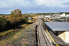 Claremorris Station.The former island platform for the Ballinrobe Branch and the platform loop for the Athenry branch. Fri 01.11.13