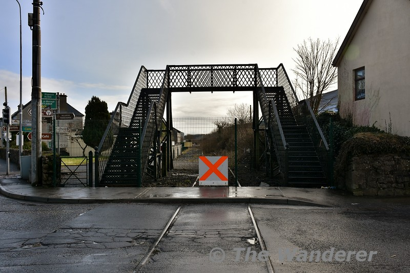 The disused Claremorris Southern Station Level Crossing (XE312) on the Collooney to Athenry section of the Western Rail Corridor. Fri 09.02.18