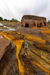 El rio tinto a su paso por el molino de la vadera