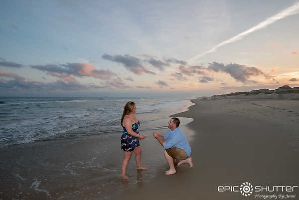 Anna and Gary, Beach Proposal/Engagement Portraits, Hatteras Village, Hatteras Island, North Carolina, Epic Shutter Photography