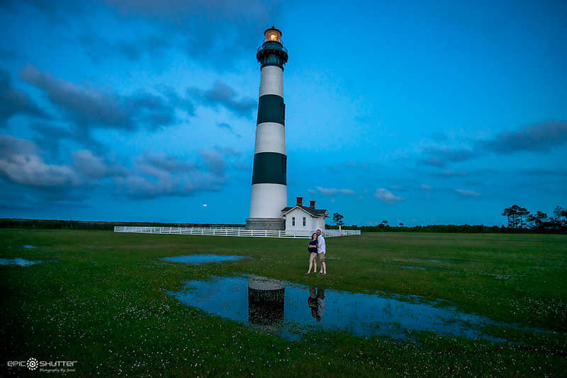 Bodie Island Lighthouse, Nags Head Fishing Pier, Maternity Portraits, Emily and John, Epic Shutter Photography