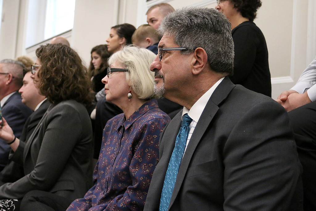 . Fitchburg Mayor Stephen DiNatale was on hand at the state house to support newly elected state Senator Dean Tran and former Senator Jennifer Flanagan at the state house on Wednesday. SENTINEL & ENTERPRISE/JOHN LOVE