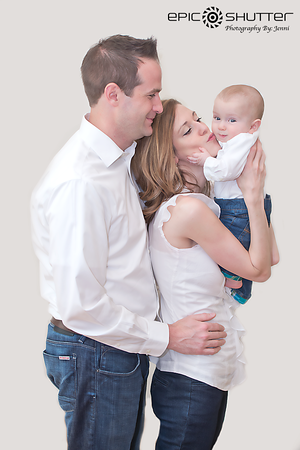 Jay's Six Month Portraits, Family Portraits, In-home, Studio Portraits, Epic Shutter Photography