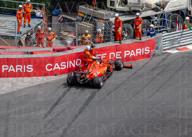 Charles LeClerc Ferrari 16 crash