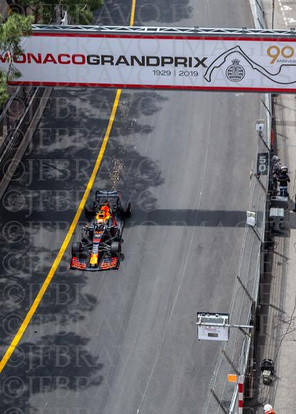 Sparks flying - Max Verstappen 33