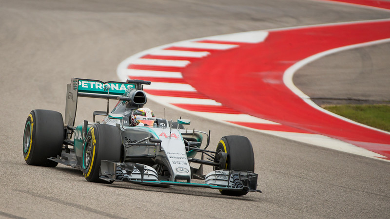 Lewis Hamilton - Mercedes. 1st in 2015 Formula One World Championship and Winner of the 2015 USGP