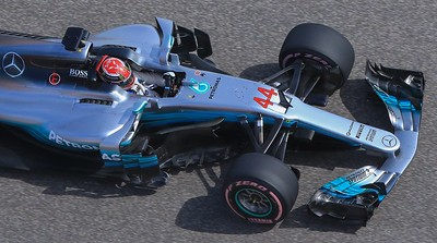 Lewis Hamilton from above.