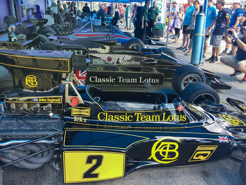 The  Masters Historic Series pits-race cars from days gone by. They raced each other every day.