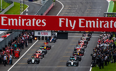 The start of the 2016 Austrian Grand Prix