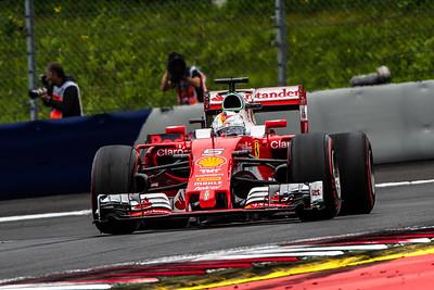 4-times world champion Sebastian Vettel, Scuderia Ferrari, Austria, 2016