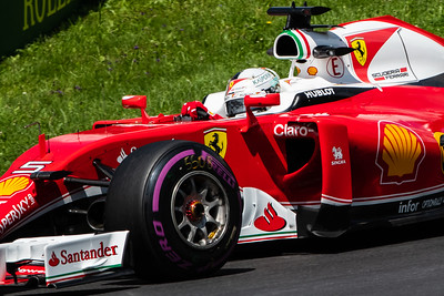 4-time F1 World Champion Sebastian Vettel, Scuderia Ferrari, Austria, 2016