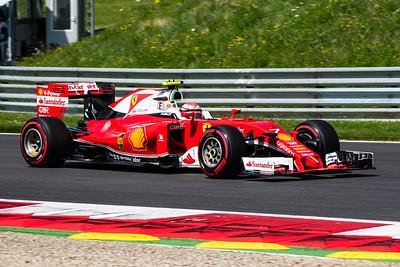 7 Kimi Raikkonen, Scuderia Ferrari, Austria, 2016