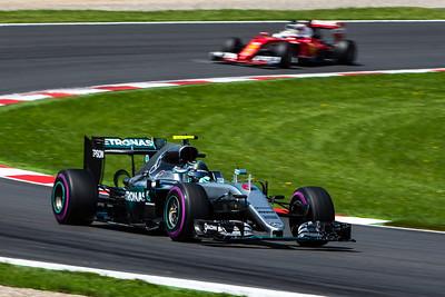 6 Nico Rosberg, Mercedes ,  5 Sebastian Vettel, Ferrari, Austria, 2016