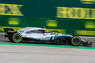 #77 Valtteri BOTTAS (FIN) in his Mercedes W09 during