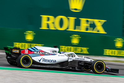 #18 Lance STROLL (CAN) in his Williams FW41 during second free practice ahead of the 2018 Italian Grand Prix