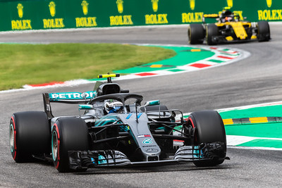 #77 Valtteri BOTTAS (FIN) in his Mercedes W09 during second free practice ahead of the 2018 Italian Grand Prix