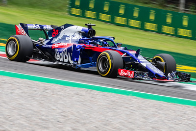 #28 Brendon HARTLEY (NZL) in his Toro Rosso Honda STR13 during second free practice ahead of the 2018 Italian Grand Prix