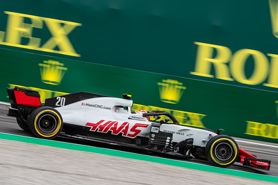 #20 Kevin MAGNUSSEN (DEN) in his HAAS RVF-18 during second free practice ahead of the 2018 Italian Grand Prix