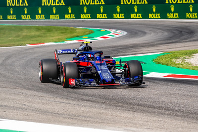 #10 Pierre GASLY (FRA) in his Toro Rosso Honda STR13 during second free practice ahead of the 2018 Italian Grand Prix