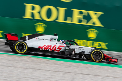 #8 Romain GROSJEAN (FRA) in his HAAS RVF-18 during second free practice ahead of the 2018 Italian Grand Prix