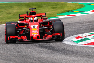 #5 Sebastian VETTEL (GER) in his Ferrari SH71 during second free practice ahead of the 2018 Italian Grand Prix
