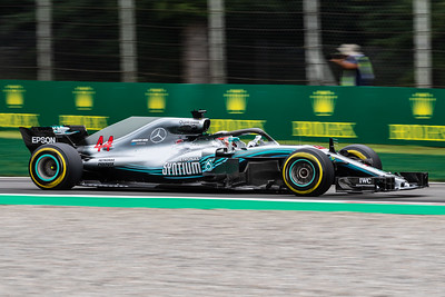 #44 Lewis HAMILTON (GBR) in his Mercedes W09 during second free practice ahead of the 2018 Italian Grand Prix