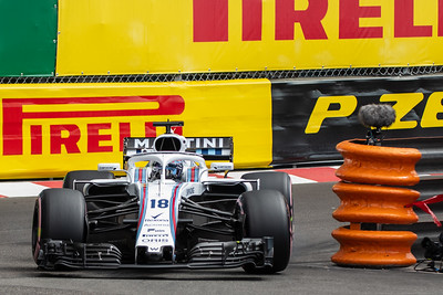 Monte Carlo/Monaco - 05/24/2018 - #18 Lance STROLL (CAN) in his Williams FW41 during free practice ahead of the 2018 Monaco Grand Prix
