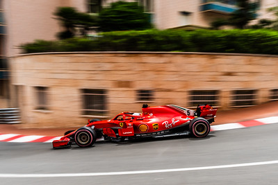 Monte Carlo/Monaco - 05/24/2018 - #5 Sebastian VETTEL (GER) in his Ferrari SH71 during free practice ahead of the 2018 Monaco Grand Prix