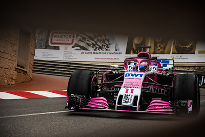 Monte Carlo/Monaco - 05/24/2018 - #11 Sergio PEREZ (MEX) in his Force India VJM11 during free practice ahead of the 2018 Monaco Grand Prix