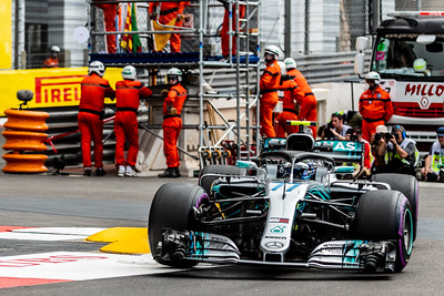 Monte Carlo/Monaco - 05/24/2018 - #77 Valtteri BOTTAS (FIN) in his Mercedes W09 during free practice ahead of the 2018 Monaco Grand Prix