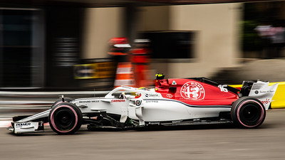 Monte Carlo/Monaco - 05/24/2018 - #16 Charles LECLERC (MCO) in his Alfa Romeo Sauber C37 during free practice ahead of the 2018 Monaco Grand Prix