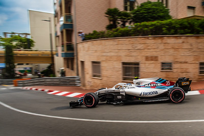 Monte Carlo/Monaco - 05/24/2018 - #35 Sergey SIROTKIN (RUS) in his Williams FW41 during free practice ahead of the 2018 Monaco Grand Prix