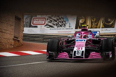Monte Carlo/Monaco - 05/24/2018 - #31 Esteban OCON (FRA) in his Force India VJM11 during free practice ahead of the 2018 Monaco Grand Prix