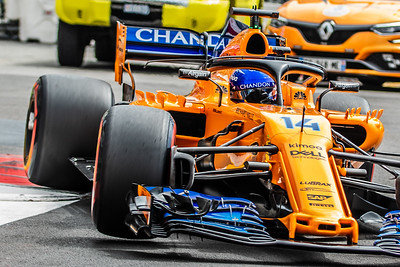 Monte Carlo/Monaco - 05/24/2018 - #14 Fernando ALONSO (SPA) in his McLAREN MCL33 during free practice ahead of the 2018 Monaco Grand Prix