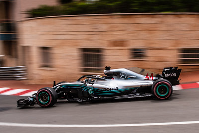 Monte Carlo/Monaco - 05/24/2018 - #44 Lewis HAMILTON (GBR) in his Mercedes W09 during free practice ahead of the 2018 Monaco Grand Prix