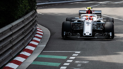 Monte Carlo/Monaco -  05/24/2018 - #16 Charles LECLERC (MCO) in his Alfa Romeo Sauber C37 during FP2 ahead of the 2018 Monaco GP
