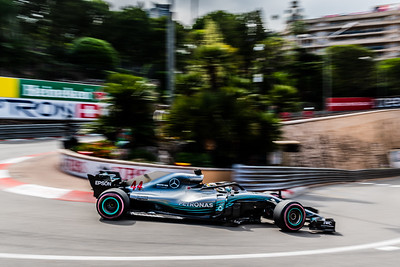 Monte Carlo/Monaco -  05/24/2018 - #44 Lewis HAMILTON (GBR) in his Mercedes W09 during FP2 ahead of the 2018 Monaco GP