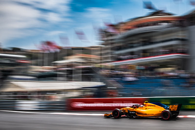 Monte Carlo/Monaco -  05/24/2018 - #2 Stoffel VANDOORNE (BEL) in his McLAREN MCL33 during FP2 ahead of the 2018 Monaco GP