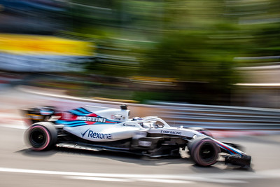 Monte Carlo/Monaco -  05/24/2018 - #18 Lance STROLL (CAN) in his Williams FW41 during FP2 ahead of the 2018 Monaco GP