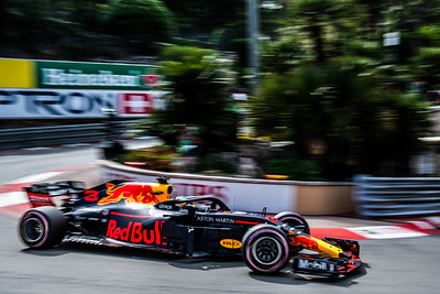 Monte Carlo/Monaco -  05/24/2018 - #3 Daniel RICCIARDO (AUS) in his Red Bull Racing RB14 during FP2 ahead of the 2018 Monaco GP