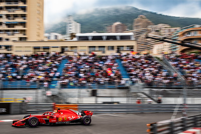 Monte Carlo/Monaco -  05/24/2018 - #5 Sebastian VETTEL (GER) in his Ferrari SH71 during FP2 ahead of the 2018 Monaco GP