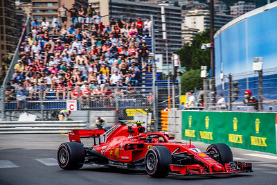 Monte Carlo/Monaco -  05/24/2018 - #7 Kimi RAIKKONEN (FIN) in his Ferrari SH71 during FP2 ahead of the 2018 Monaco GP