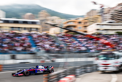 Monte Carlo/Monaco -  05/24/2018 - #28 Brendon HARTLEY (NZL) in his Toro Rosso Honda STR13 during FP2 ahead of the 2018 Monaco GP