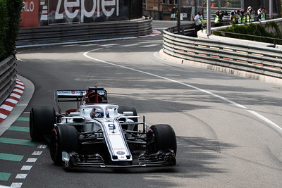 Monte Carlo/Monaco -  05/24/2018 - #9 Marcus ERICSSON (SWE) in his Alfa Romeo Sauber C37 during FP2 ahead of the 2018 Monaco GP