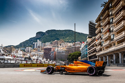 Monte Carlo/Monaco - 05/26/2018 - #2 Stoffel VANDOORNE (BEL) in his McLAREN MCL33 during qualifying for the 2018 Monaco Grand Prix