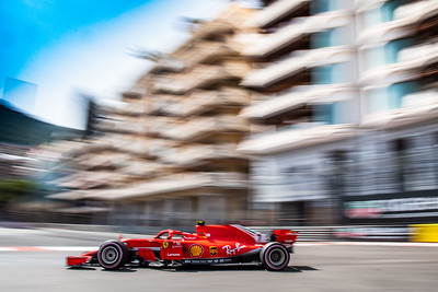 Monte Carlo/Monaco - 05/26/2018 - #7 Kimi RAIKKONEN (FIN) in his Ferrari SH71 during qualifying for the 2018 Monaco Grand Prix